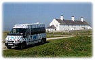 SouthernGuide on the Dorset coast with a Discover Dorset minibus